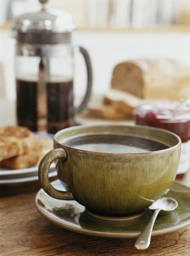 Koffie ontbijt stock