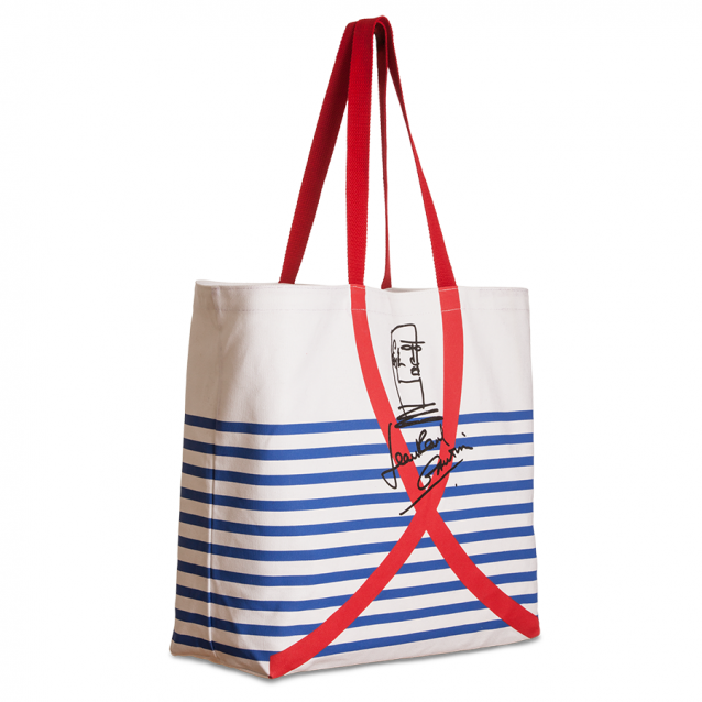 Limited Edition Jean Paul Gaultier Beachbag voor STOP AIDS NOW!