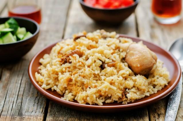 Pilaf rijst stock