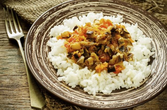 Pilaf rijst stoof stock