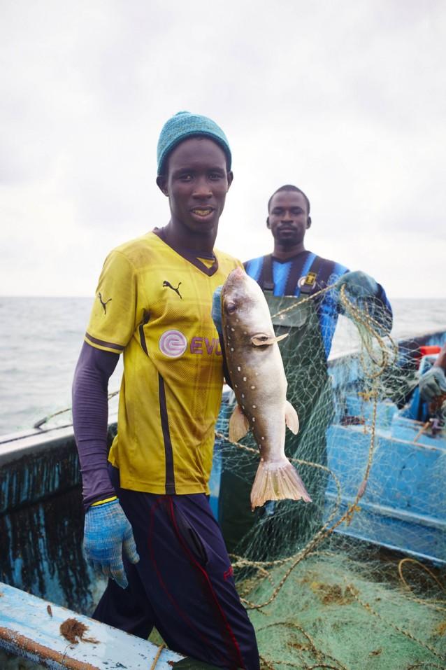 The gambia foto copyright David Loftus, vissen op lokale boot