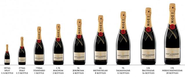 Nebuchadnezzar  champagne flessen