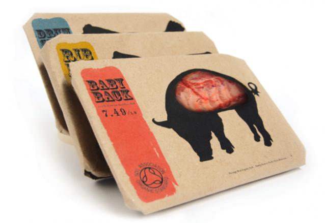 Vlees verpakking