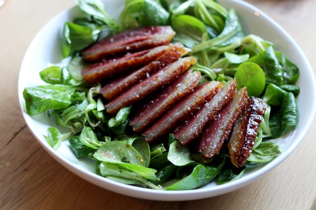 Culy Homemade: salade met gerookte eendenborst0002