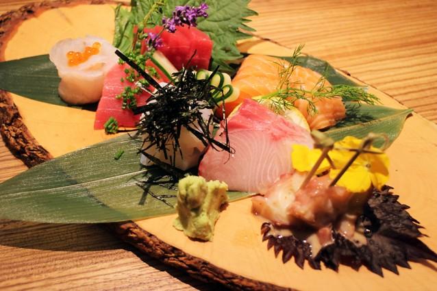 Sashimi van verschillende vissoorten