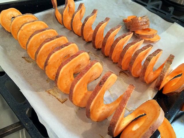Culy Homemade zoete aardappel twisters