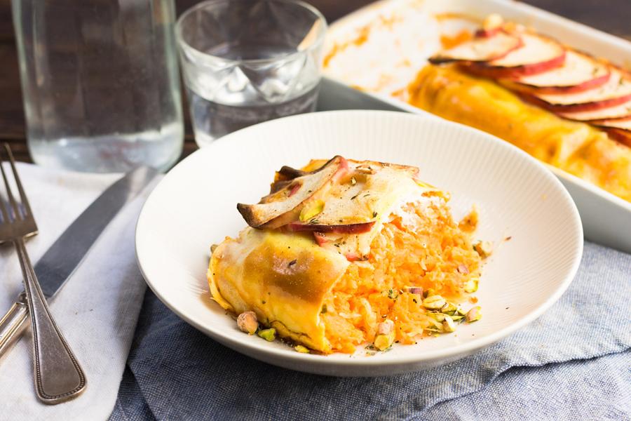 Afbeelding vegetarische zuurkoolstamppot recept