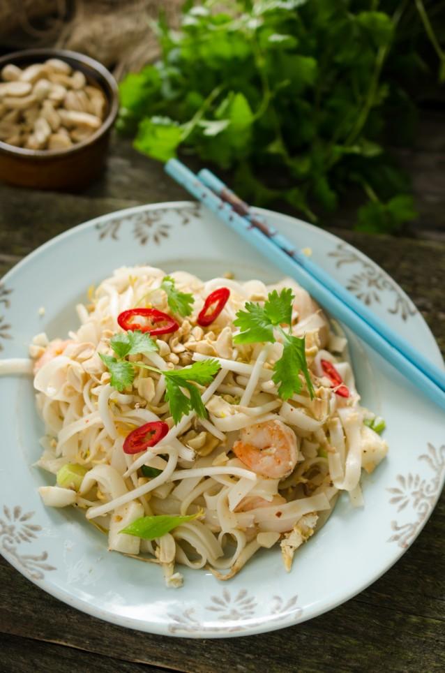 Pad thai - traditional thai noodles