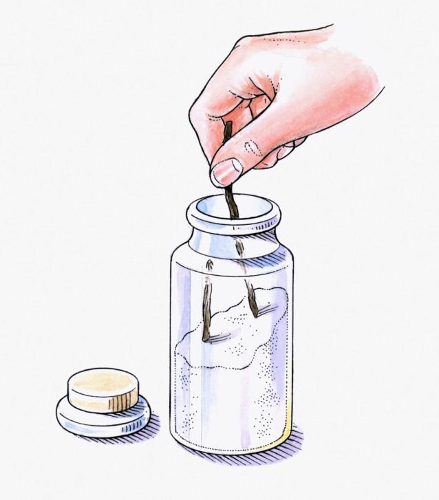 Illustratie vanillesuiker stock