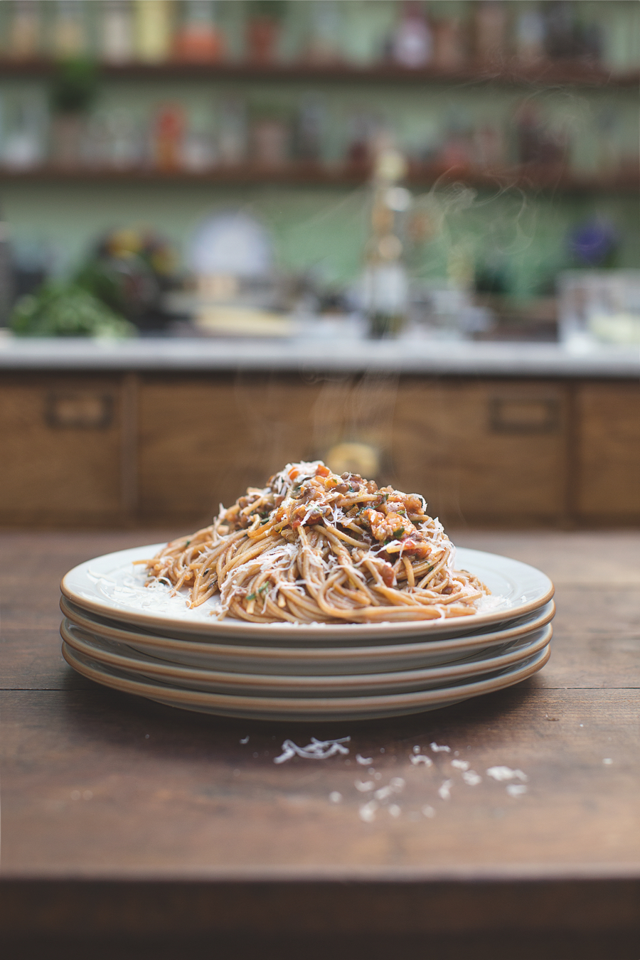 vegetarische pasta bolognese van jamie oliver. Black Bedroom Furniture Sets. Home Design Ideas