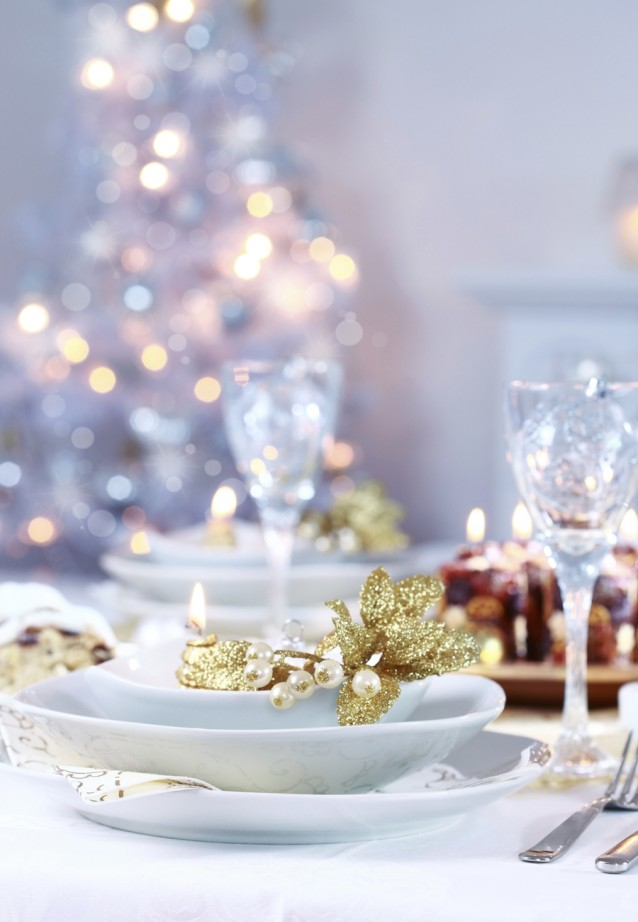 Kerst tafel stock