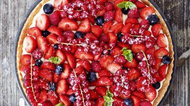 zomerse fruittaart