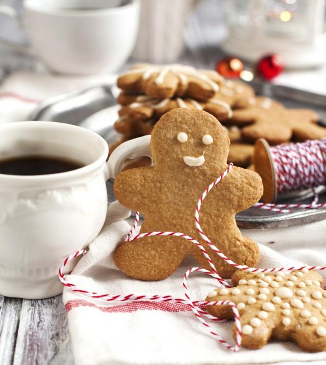 gingerbread koekje Kerst stock
