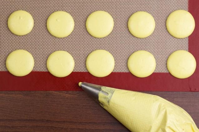 macarons siliconen bakmat stock