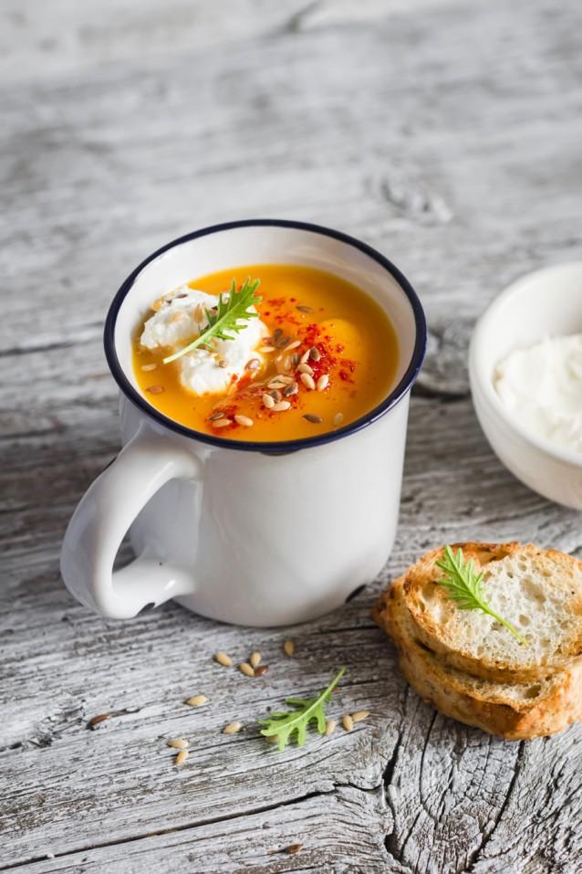 pompoen soep stock