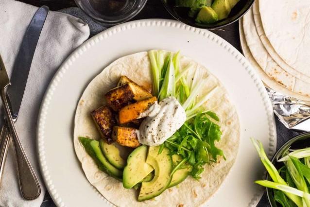 vega fajitas met avocado en tofu