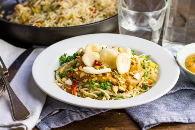 Koken met aanbiedingen vegetarische bami3