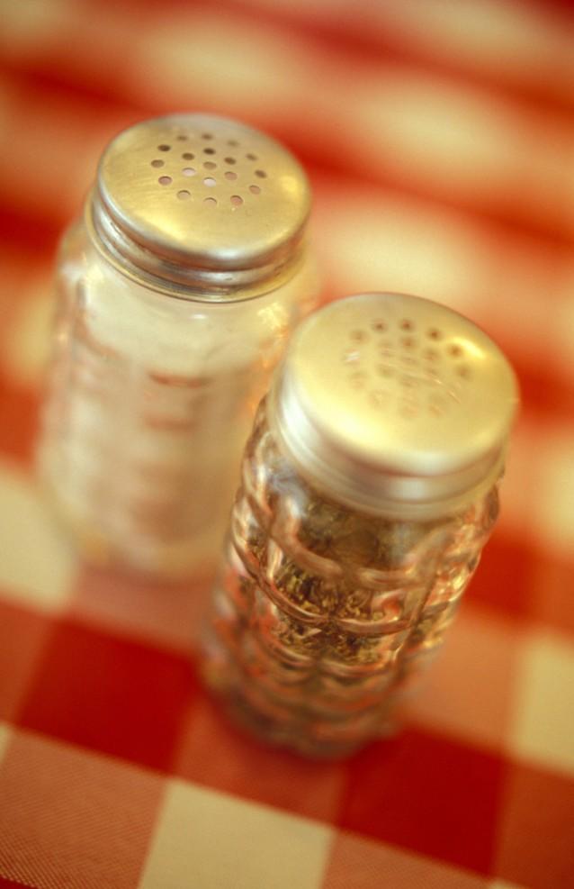 Peper en zoutstel stock