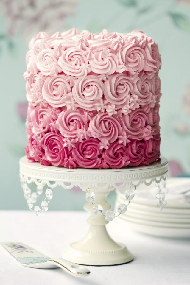 Taart rozen frosting stock