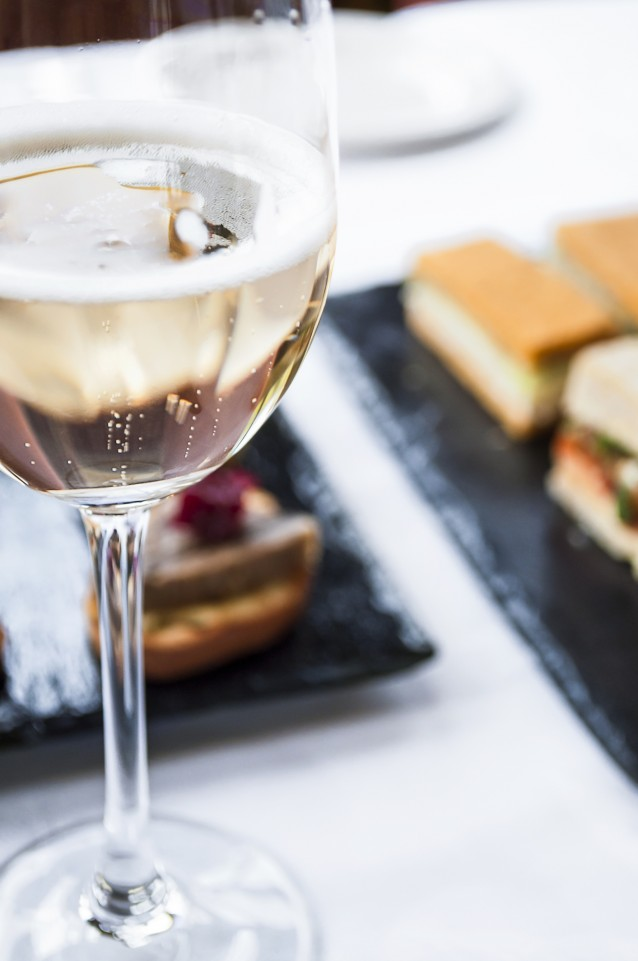 Sparkling Wine with Traditional Afternoon High Tea