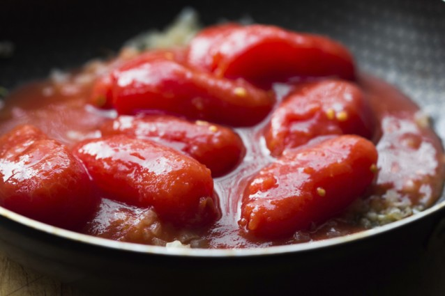 Tomatensaus stock