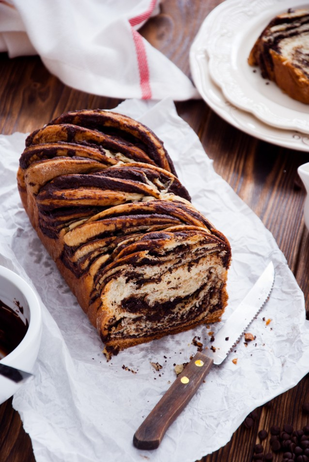 Swirl Brioche with chocolate