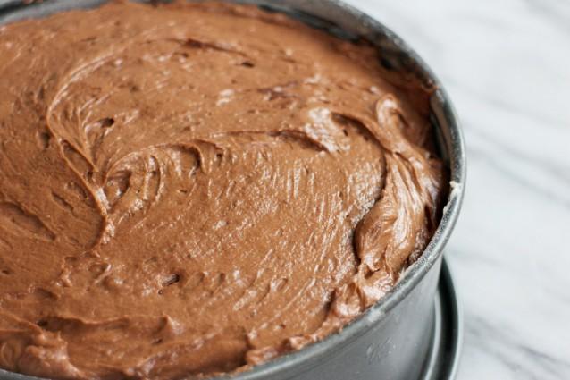 Chocoladetaart met creme fraiche