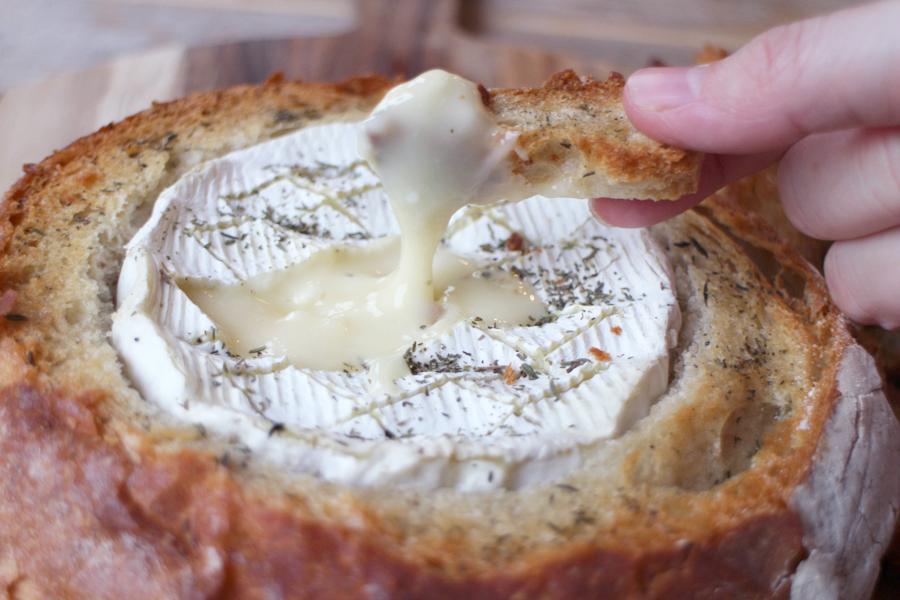 camembert op de bbq