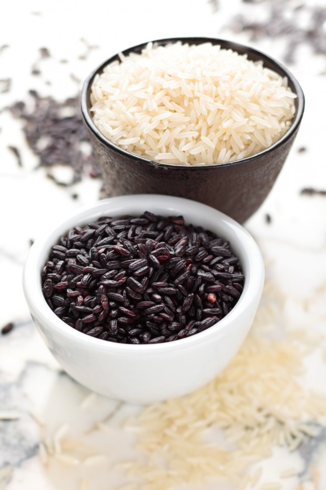 Zwarte rijst stock2