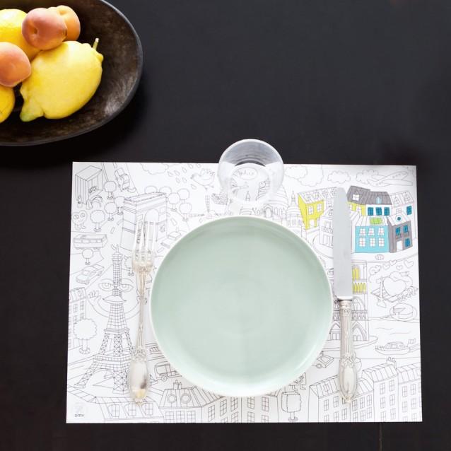 Citymap Coloring Paper Placemats