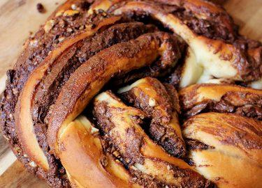 gevlochten Nutella-brood