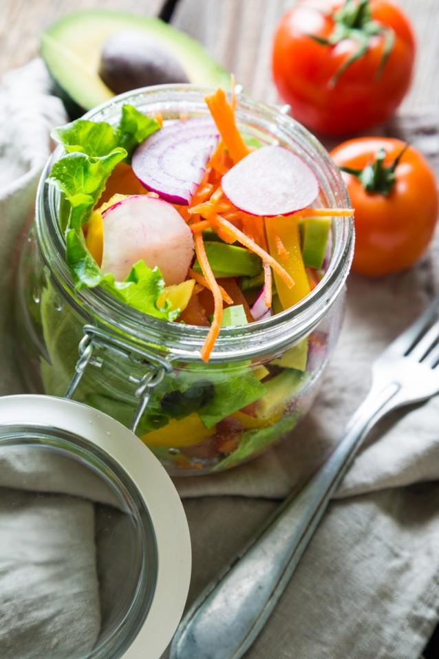 Salade weckpot stock