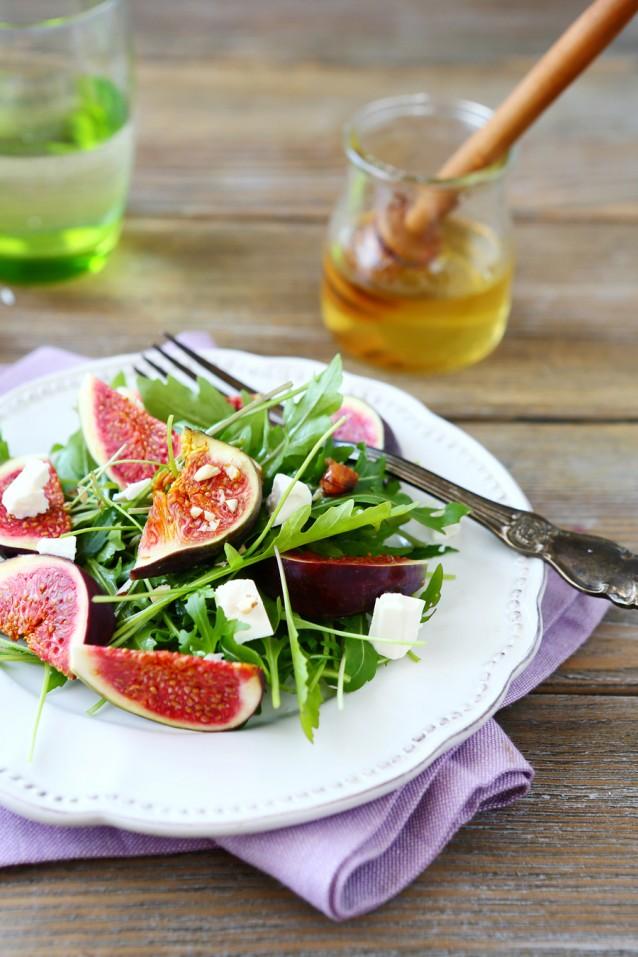 Vijgen salade stock
