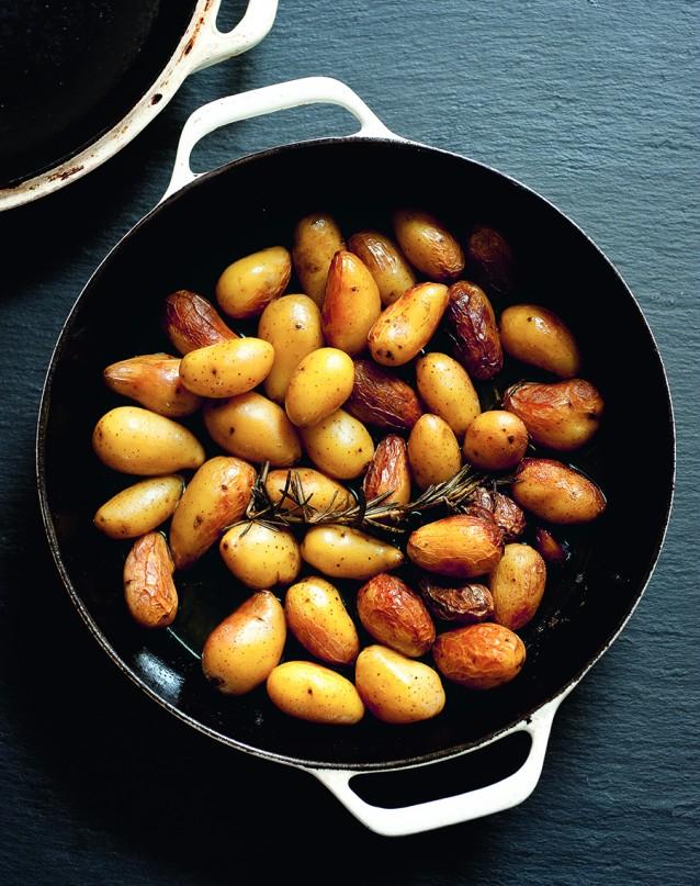 Gebakken aardappeltjes op z'n Italiaans