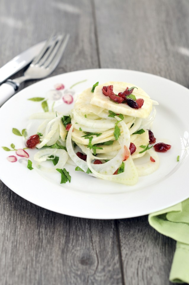 Venkel bleekselderij salade stock