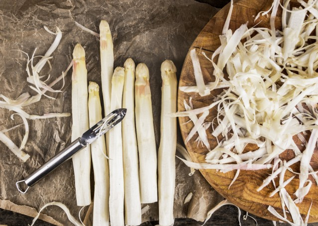 Witte asperges stock2