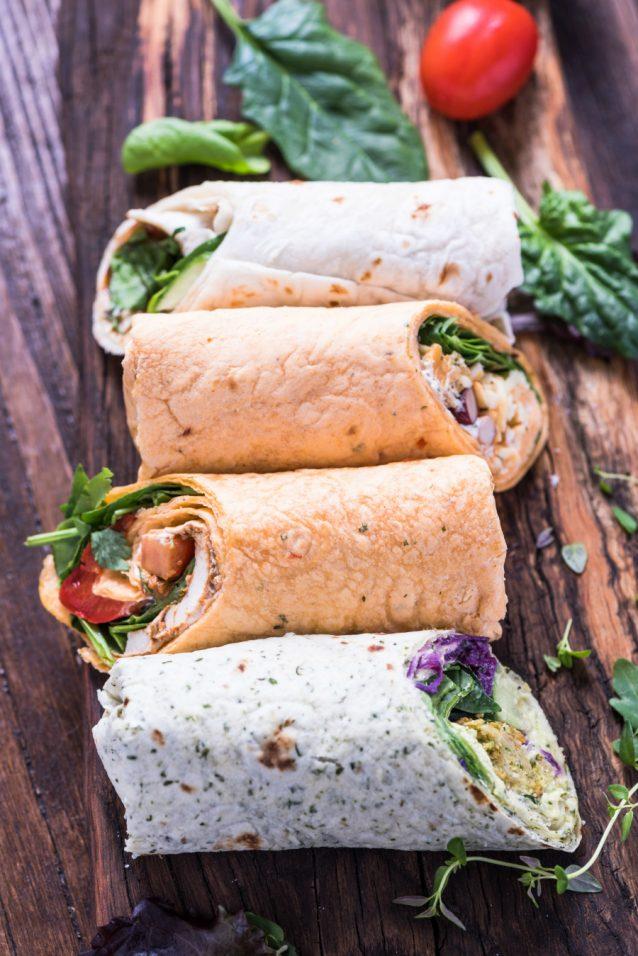 Burrito wraps stock