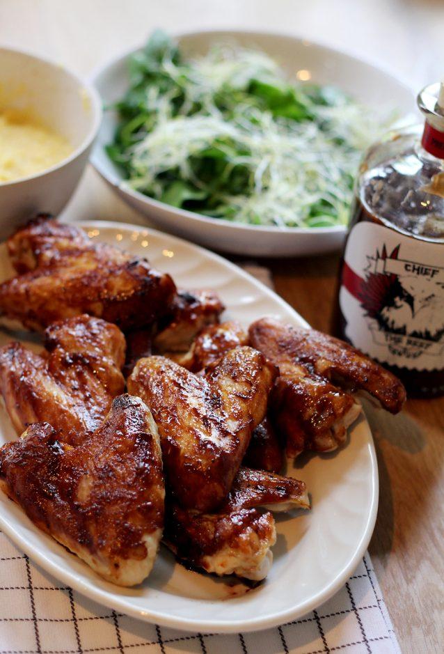 Chicken wings uit de oven met BBQ saus0001