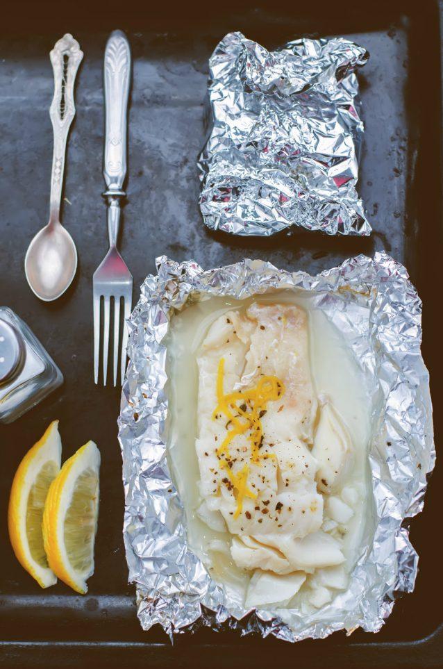 marinade voor Vis uit de oven stock