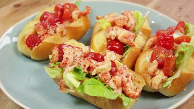 lobster rolls met rivierkreeft