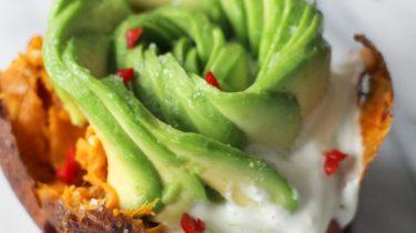 voorbeeld van recept als deel van recepten met avocado