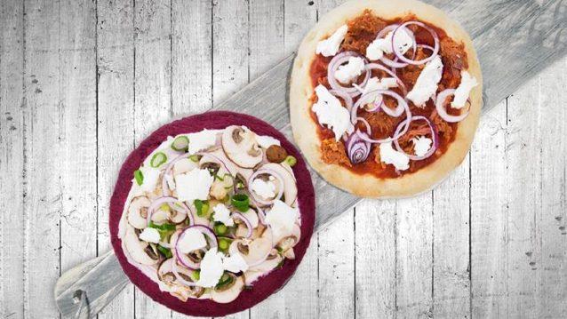 Magioni de gezonde pizza die voedt als een salade