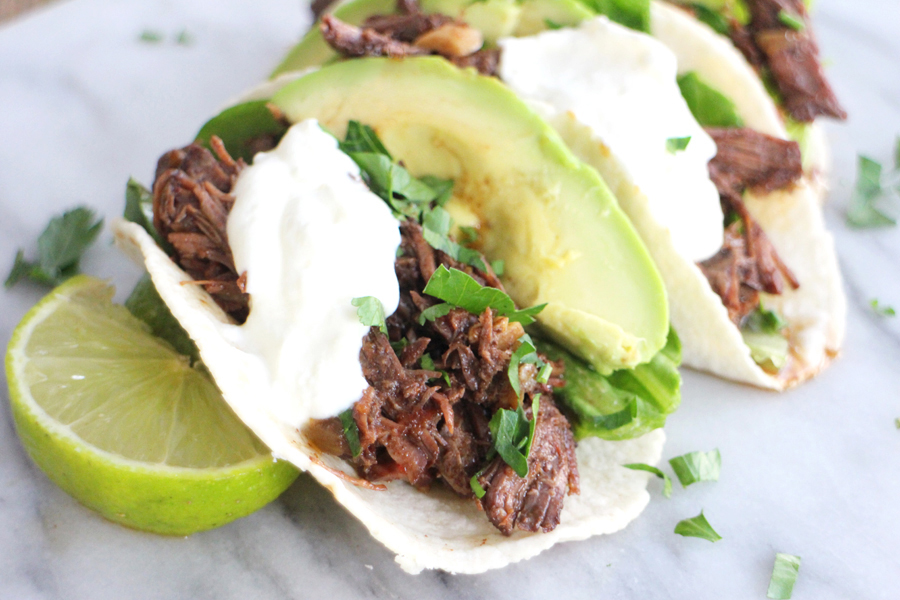 pulled beef tacos recept