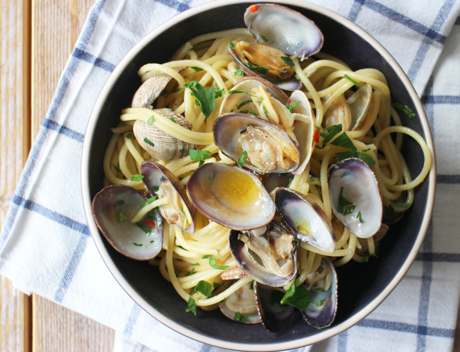 Afbeelding van spaghetti alla vongole (Mediterraans eten) bij Culy's Weekmenu