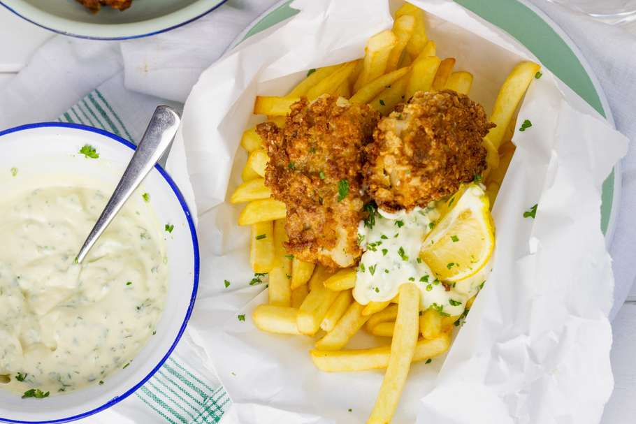 fish & chips toppings voor frietjes