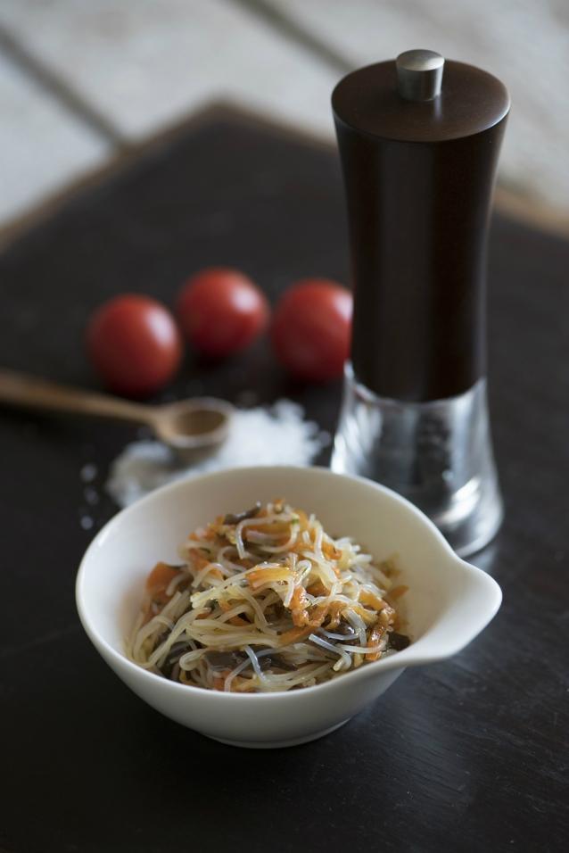 Glas noodles stock