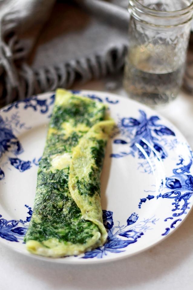 hartige omelet met spinazie en feta0002