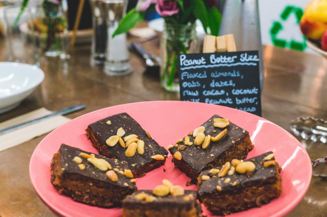 Deliciously Ella peanutbutter slices