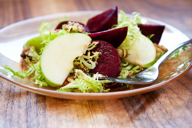 Stock salade appel biet