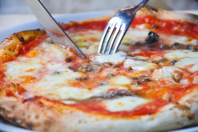Stock Pizza Napels